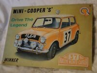 MINI COOPER S. MONTE CARLO, METAL SIGN 41 x 30 cm EMBOSSED USED
