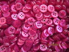 10 x Taglia 18 (11 mm) Cerise Rosa 4 FORI buttons-BABY CUCIRE maglieria artigianato bambola