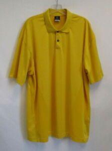NIKE GOLF Men's Golden Yellow Dri-Fit Breathable Short Sleeve Polo Shirt - XXL