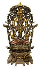 """Avalokiteshvara Buddha Bronze Finish Statue - 11"""" tall - Buddhism Figure"""