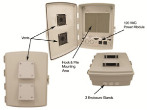 Vented Enclosure Box - 14x12x4 Outdoor Weatherproof Waterproof Outside Nema WiFi