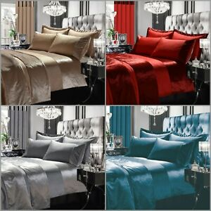 New Luxury Fancy Duvet Quilt Cover Set Single Double King Curtains Bedspread
