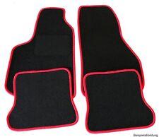 Velours Fußmatten Set für OPEL ASTRA G Limo Caravan RAND ROT Matten Autoteppiche