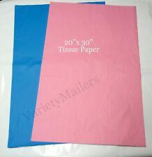 "50 Large 20""x 30"" Sheets of Premium Quality Tissue Paper ~ 2 Colors Matte Finish"
