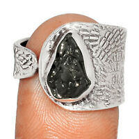 Russian Shungite 925 Sterling Silver Ring Jewelry s.8 BR20190  XGB