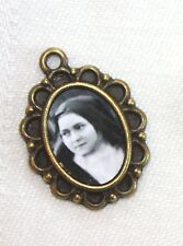 St. Therese Mini-Medal/Add to Rosary/Bracelet/Antique Silver/Bronze/Antique Gold