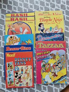 Lot de 10 Albums Panini Basil, Tarzan, Denver, Blanche Neige, Bernard et Bianca
