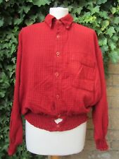 Loving Youth-Ladies Red Vintage Re-Worked Shirt Size M/L
