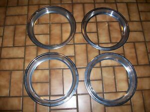"""1970s Chrysler, Dodge, Plymouth C-Body Truck 15"""" OEM Rounded Rally Wheel Rings"""