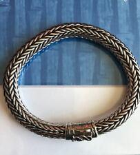 Scott Kay Authentic Sterling Silver & 18k Gold Woven Mens Bracelet 8 1/4 inch