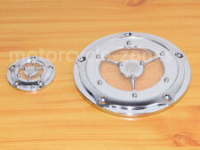 Chrome Clarity 5 Hole Twin Cam Derby-points Timer cover Fits Harley Davidson New