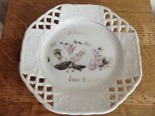 Antique Commemorative Diamond Jubilee Queen Victoria Souvenir Plate