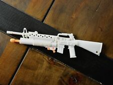 "12"" GI JOE Mission Gear Arctic Assault WHITE M16 RIFLE Gun Weapon Hasbro 1992"