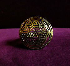 Mandala Flower of Life Ring - Sacred Geometry Seed of Life Spirit Science Goa