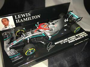 1:43 MINICHAMPS Lewis Hamilton Mercedes W10 Ganador Mónaco Gp 2019- Niki Lauda