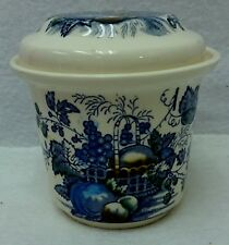 MASON'S china FRUIT BASKET BLUE pattern C4892 Drip Jar & Lid - 4""