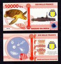 ★★ BASSAS DA INDIA ● TAAF ● BILLET POLYMER 10000 FRANCS ★ COLONIE FRANCAISE