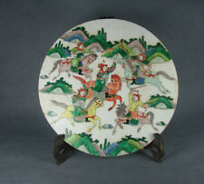 China old porcelain hand-painted General ride horse Battle scenes design screen