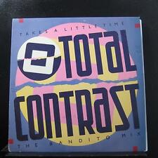 "Total Contrast - Takes A Little Time 12"" 45 RPM VG+ LONX 71 UK 1985 Vinyl Record"
