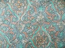 WtW Fabric Floral Windsor Hoffman Art Deco Nouveau Folk Ornate Blue Pink Quilt