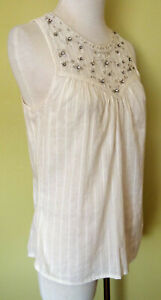 Ladies Sleeveless Blouse Tank Top Loose Casual Party Evening Forever New Size 10