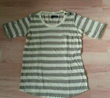T-Shirt THE KOOPLES coton  rayé gris/blanc femme T.S