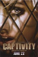 CAPTIVITY Movie POSTER 27x40 B Elisha Cuthbert Daniel Gillies Pruitt Taylor