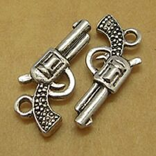 10 Tibetan Silver 3d Gun Pendant Charms Pistol