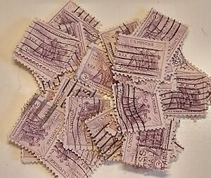lot of 100 Scott 732 US Stamp 1933 3c National Recovery Act Used rjkstamps