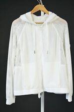 Lululemon Athletica Mesh on Mesh Jacket White Hooded us 10 uk 14