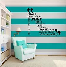 New Shoes Girl Fashion Inspirational Vinyl Wall Art Vinyl quote Home Decor Decal