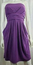 JFW Womens Purple Cocktail Strapless Dress Size 2X XXL 16 18 20