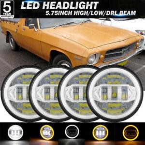 """4x 5 3/4"""" Headlight For Holden HQ HK HT HX HZ HJ HG Premier Statesman Kingswood"""