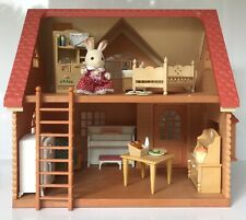 Sylvanian Families Cottage with Dressed Chocolate Rabbit and Accessories