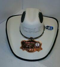 Nuevo Para Hombres Sombrero de vaquero blanco cuero de algodón de papel de  arroz 67 8 9ba52e3aca1