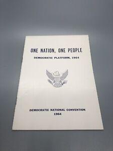 1964 Democratic National Convention Democratic Platform Pamphlet Historic Cool!