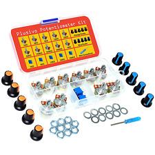 Turn Trimmer Variable Resistor Pots Mini Screwdriver Nuts Washers Assortment Kit