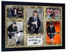 Angus Young ACDC AC/DC signed autograph Music pre-print poster photo Framed