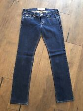 Hollister Socal stretch Damen dunkel blau gerades Bein Denim Jeans W27 L31