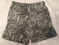 Boys River Island Grey/White Patterned Swim shorts Age 9-10 Years