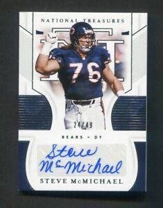 2020 National Treasures Steve McMichael Auto Autograph /49 Chicago Bears