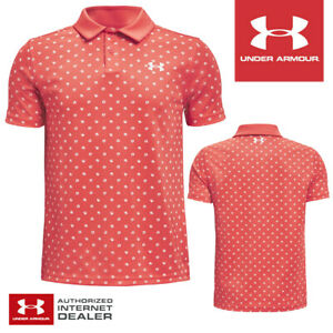 Under Armour Junior Boy's Performance Poppie Golf Polo Shirt - NEW! 2021