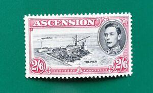 ASCENSION 1938 KGVI MINT 2s 6d BLACK & DEEP CARMINE SG45