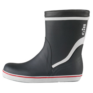 GILL Short BOOTS : Rubber - Mid Length - Sailing Deck Footwear