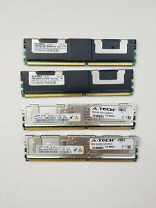 ECC SERVER MEMORY RAM 12GB 2X4GB Samsung 2X2GB Elpida PC2-5300F-555 DDR2