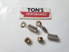 Spark Plug Wire Brass Nuts & Ring Terminals Harley bobber chopper Sportster BSA
