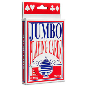 Jumbo Playing Cards Large Decks Premium Deck of Card Games - Plastic Coated New