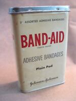 BAND AID Tin Johnson & Johnson (Empty) Vintage Rare