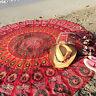 Paréos Hippie Chic Serviette de Plage Ronde Imprimés Aztec - Neuf