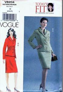 Discontinued Vogue 8204. Without Envelope. Sizes D-E-F